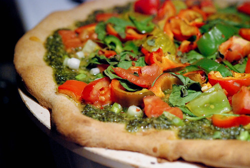 Garden Pesto Pizza | by swellvegan