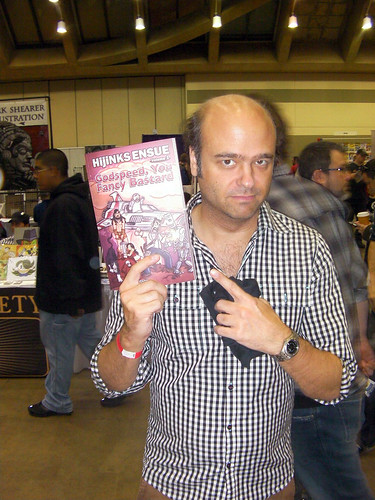 Scott Adsit with his new HijiNKS ENSUE Book | by hijinksensue