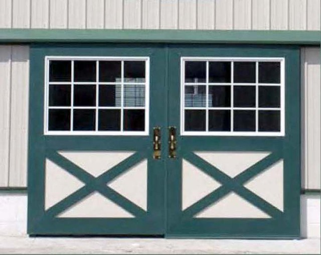 Country Squire Sliding Barn Door With Windows Metal