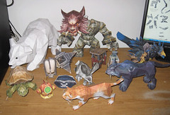 papercraft world of warcraft characters shoplet flickr