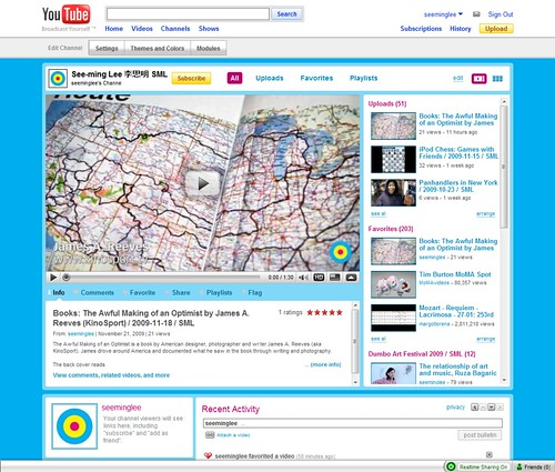 Simulcasting videos on multiple social networks: SML YouTube / 2009-11-22 / SML Screenshots | by See-ming Lee (SML)