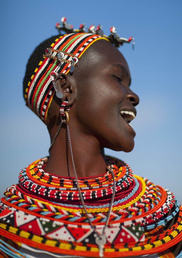 Samburu Woman Profile - Kenya  The Samburu Is Closely -7959