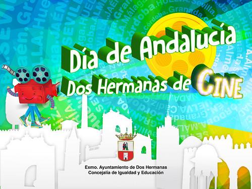 Cartel de la actividad del Día de Andalucía Dos Hermanas de Cine
