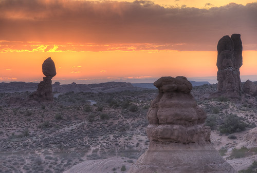 Sunset at Balanced Rock | by J. Palmer