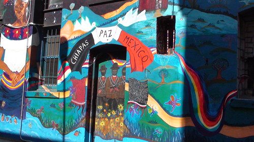 Mural zapatista at city lights bookstore legendary city for Mural zapatista