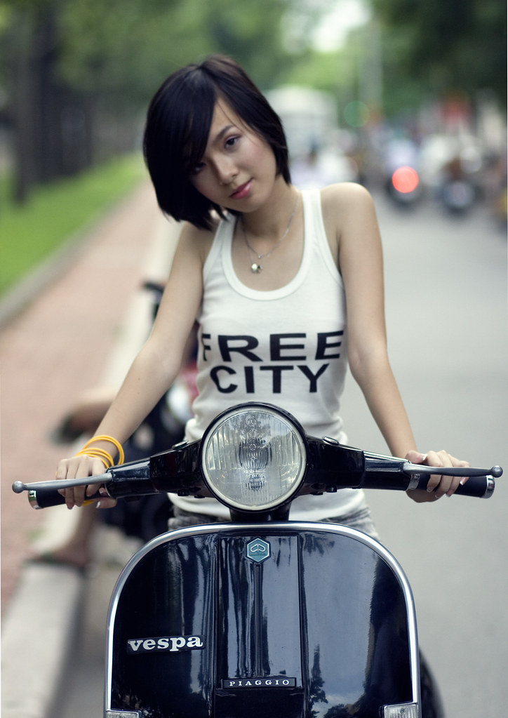Vespa With Girl  Teen Girl My Px  Hng Qun Trn  Flickr-1497
