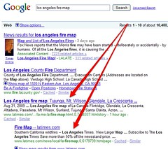 LA Times & Fire Maps | by search-engine-land