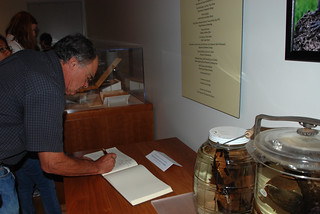 Jere Lipps signs the guestbook | by UCMP