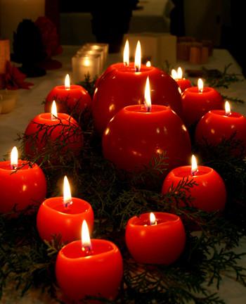fotos de velas decorativas