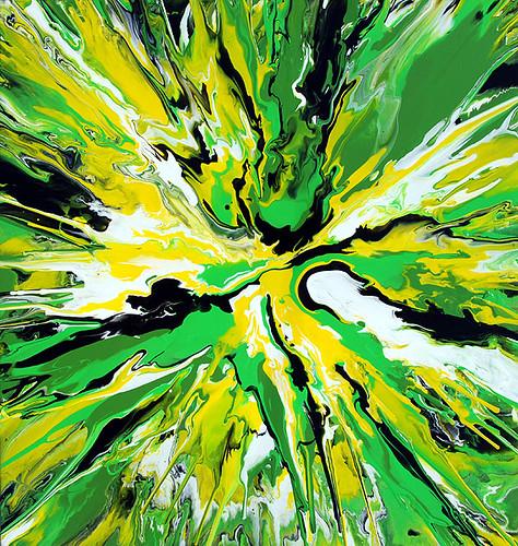 abstract yellow green drawing - photo #8