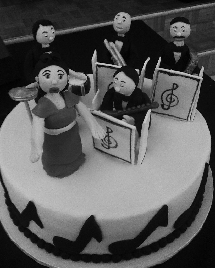 Big Band Birthday Cake Black And White Here Is The Cake Flickr