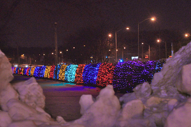 University Avenue Holiday Lights In >> Looking Back At December S Snows And The University Avenue Flickr