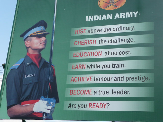 Join The Indian Army Recruiting Poster Outside The