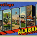 Greetings from Mobile, Alabama - Large Letter Postcard
