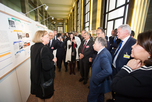 "UNECE Inland Transport Committee. VIP tour of the ITC exhibition and Ministers signing of the poster ""The Futur Inland Transport we want"""