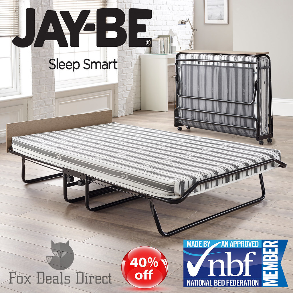 Folding Bed Automatic : Jay be supreme automatic fibre double folding guest bed j