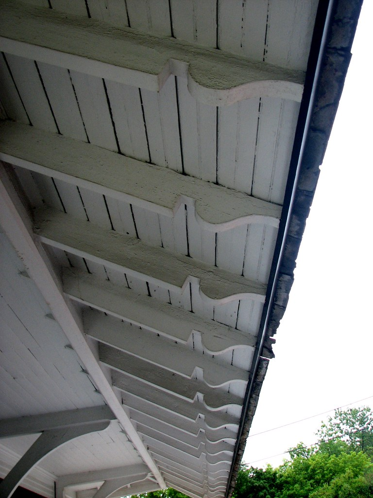 Railroad Station 1891 Rafter Tails Detail 29 Seymour