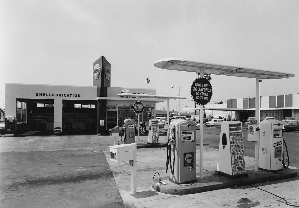 ann darling shell station san jose circa 1960 for those wh flickr. Black Bedroom Furniture Sets. Home Design Ideas