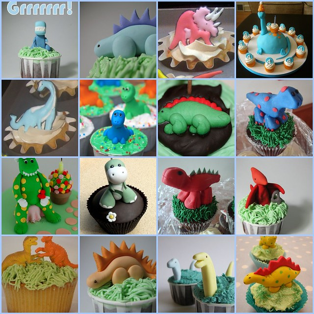 Dinosaur Birthday Cake Wilton: 1. Dinosaur Birthday Cupcakes, 2