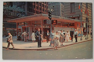 TIMES SQAURE 1955 Tourist Info Center POSTCARD VINTAGE NEW YORK CITY | by Christian Montone