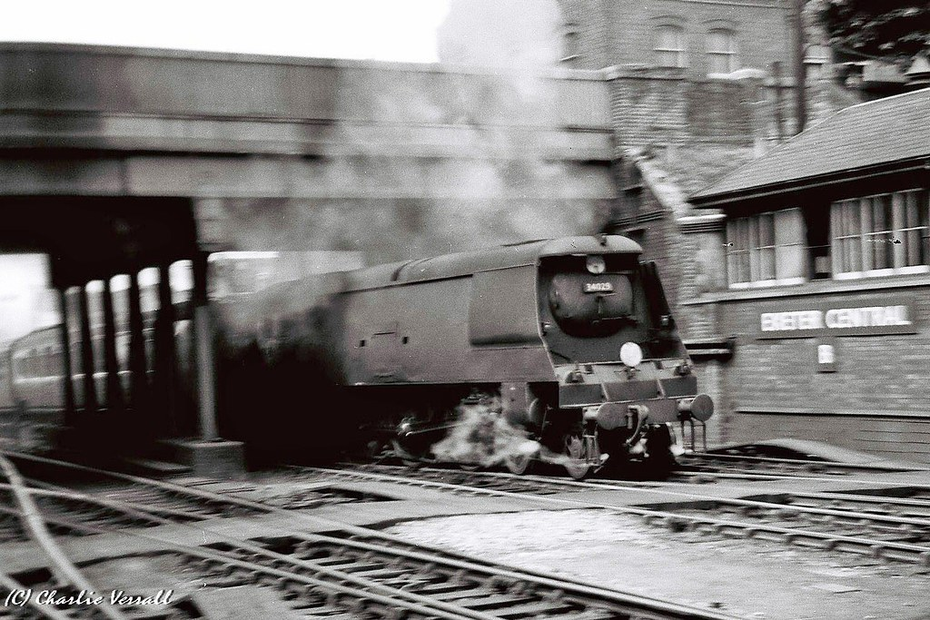 ... 34029 LUNDY entering Exeter Central with an up train 2 July 1953 | by  pondhopper1