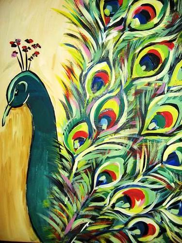 peacock original acrylic painting this is my original
