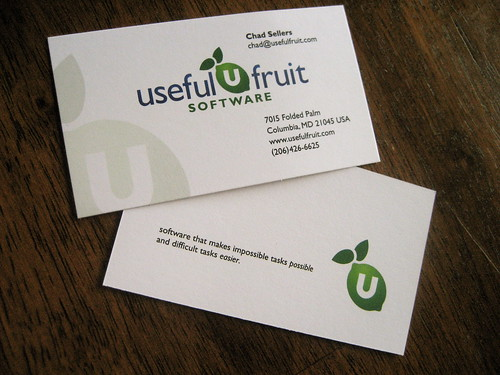 Useful Fruit Business Card Front Amp Back Design For The