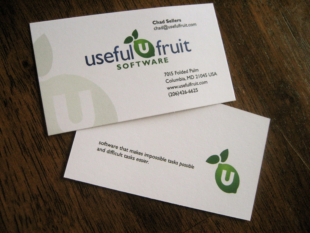 Useful Fruit Business Card: Front & Back | Design for the fr… | Flickr