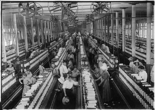 Interior of Magnolia Cotton Mills Spinning Room. See the Little Ones Scattered through the Mill. All Work. Magnolia, Miss., 05/03/1911 | by The U.S. National Archives