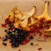 Chanterelles, blueberries and lingon berries