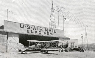 Photograph of airmail planes at Elko, Nevada | by Smithsonian Institution