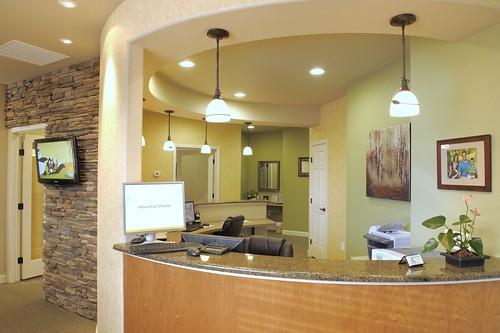 dr white dental office reception desk design ergonomics flickr