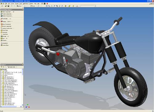 Lba Motorcycle Modeled In Autodesk Inventor In 2000 Flickr