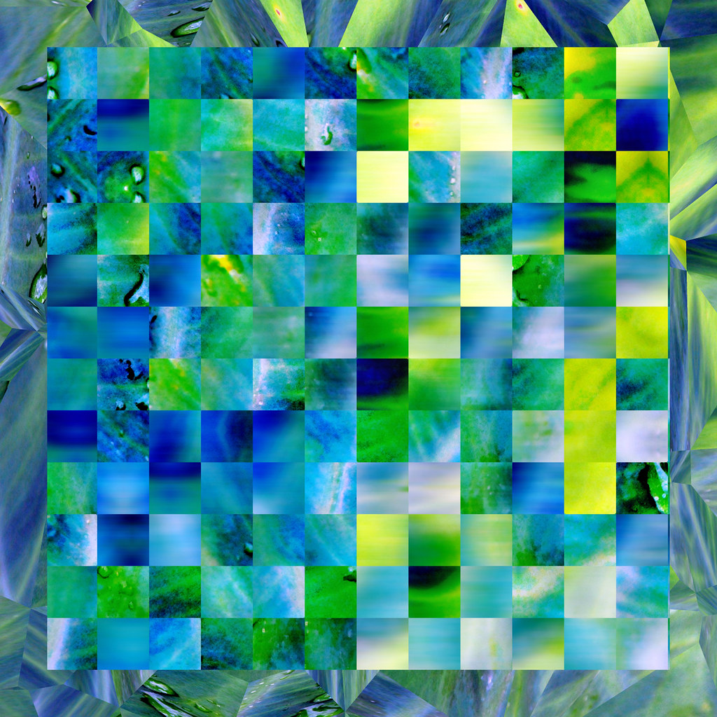 Abstract photography squares blue lime green yellow blur 2 for Lime and blue