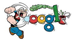 Popeye Google Doodle Logo | by Si1very