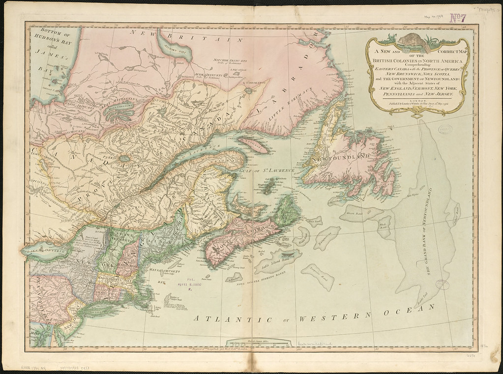 A New And Correct Map Of The British Colonies In North Ame