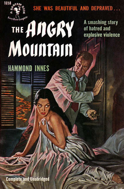 1952 Bantam edition of The Angry Mountain (Cover art by Mitchell Hooks)
