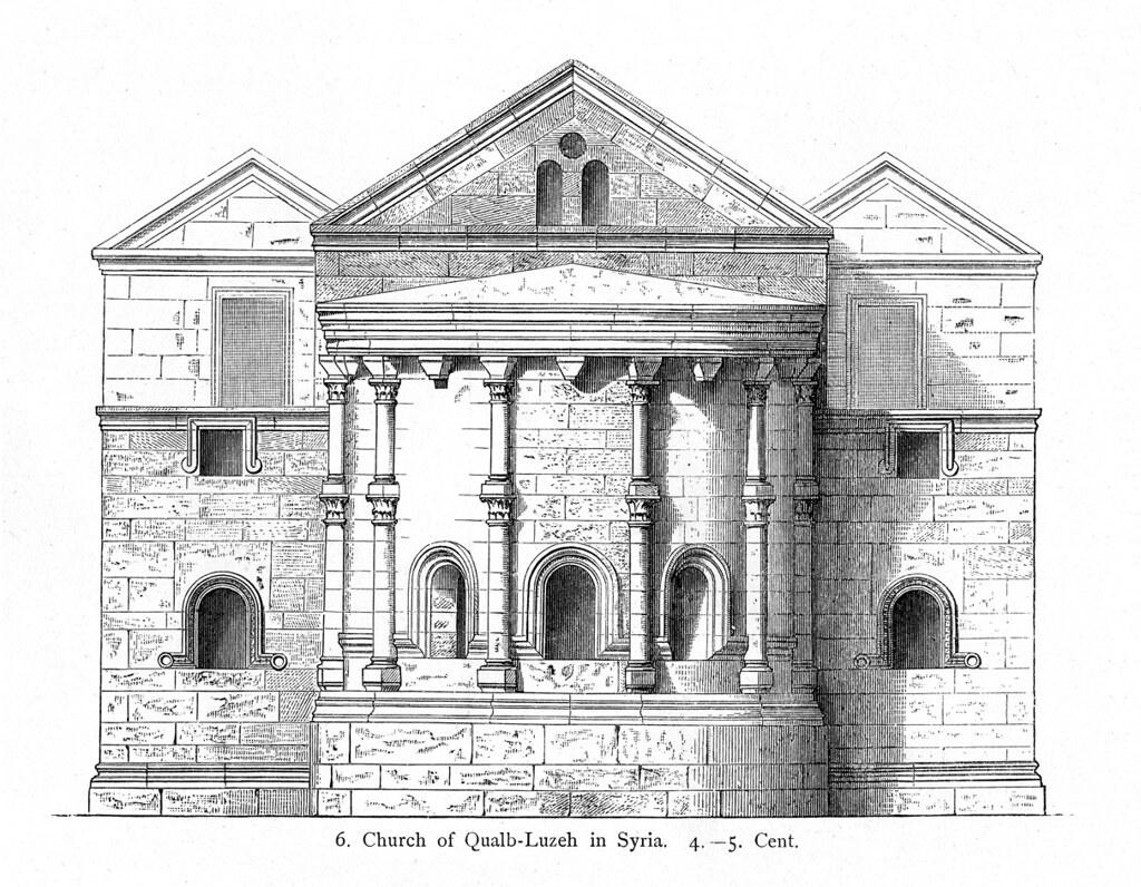 Church At Qalb Lawzah Reconstruction Rendering Of Facade | Flickr