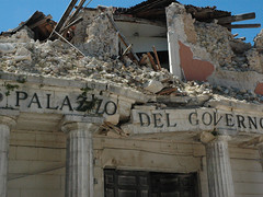 Buildings destroyed by L'Aquila's earthquake | by Downing Street