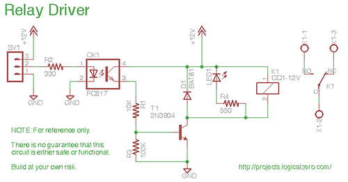 relay board schematic the schematic of the basic relay boa flickr rh flickr com relay board schematics 5 Pin Relay Wiring Diagram