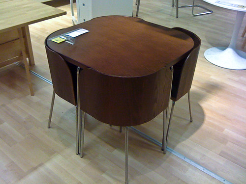 kind of like the smart design of this ikea fusion table the chairs
