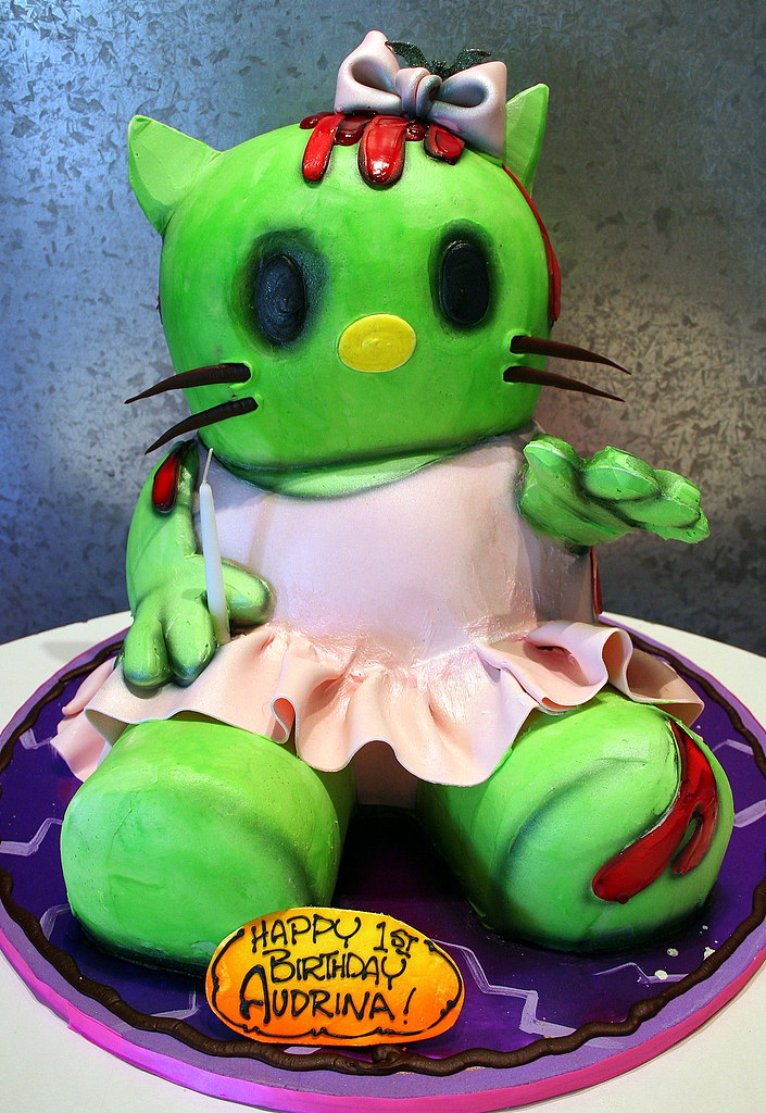 Zombie Hello Kitty 3D cake as Hello Kitty being a zombie Flickr