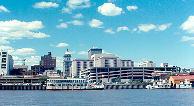 Peoria Caterpillar And Downtown From Illinois River 197