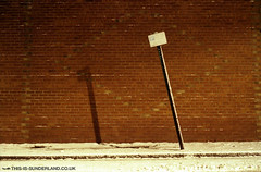 Sign in the Snow, Sunderland | by martintype