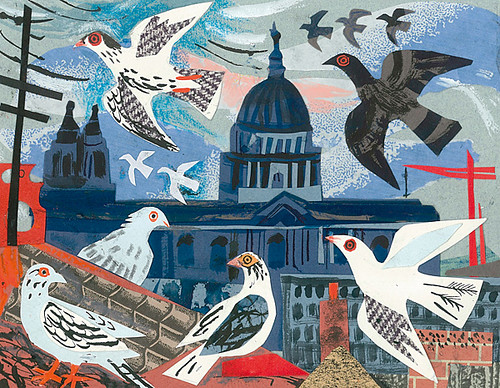 Mark Hearld - St. Paul's Pigeons collage | by St. Jude's