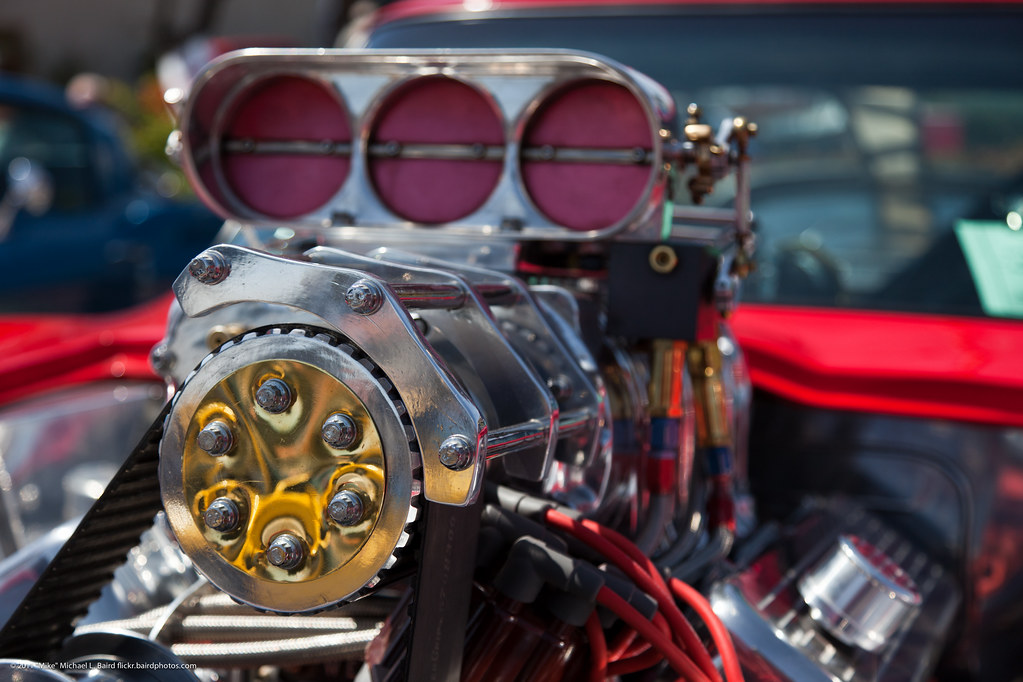 Car Engine Blower : Blower on hot rod engine cruisin show and shine mor