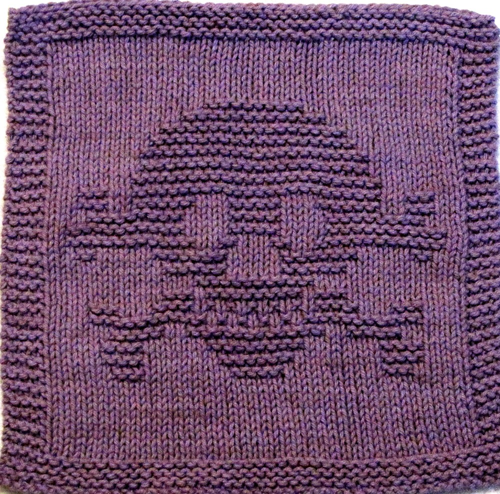 Knitting Needles And Yarn For Beginners : Knitting cloth pattern skull and cross bones great