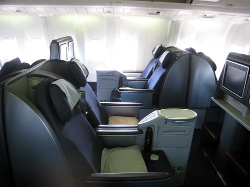 United's new business class seat