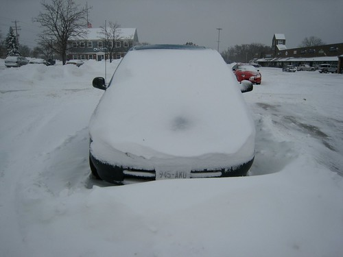 Snowed Covered Car in Piggy Wiggly Parking Lot, Mequon, WI | by Lynn Friedman