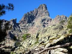 Depuis le ravin d'Astratella, la Paglia Orba : brèche du Sphinx, Face Est, Grande Barrière